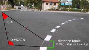 calcul simple de la distance de ligne